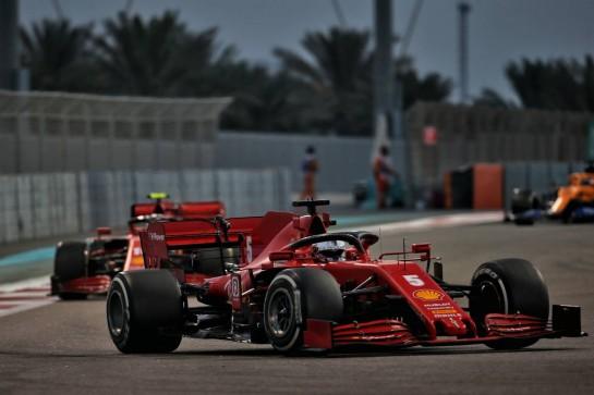 Sebastian Vettel (GER) Ferrari SF1000. 13.12.2020. Formula 1 World Championship, Rd 17, Abu Dhabi Grand Prix, Yas Marina Circuit, Abu Dhabi, Race Day. - www.xpbimages.com, EMail: requests@xpbimages.com © Copyright: Batchelor / XPB Images