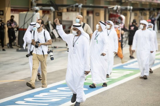 Grid guests. 13.12.2020. Formula 1 World Championship, Rd 17, Abu Dhabi Grand Prix, Yas Marina Circuit, Abu Dhabi, Race Day. - www.xpbimages.com, EMail: requests@xpbimages.com © Copyright: Bearne / XPB Images