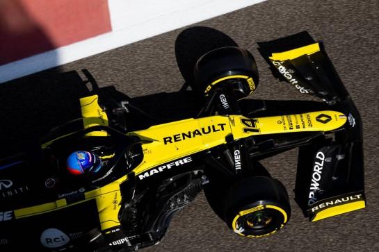 Fernando Alonso (ESP) Renault F1 Team RS20. 15.12.2020. Formula 1 Testing, Yas Marina Circuit, Abu Dhabi, Tuesday. - www.xpbimages.com, EMail: requests@xpbimages.com © Copyright: Bearne / XPB Images