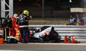 Amazing Canal Plus animation details Grosjean Bahrain crash