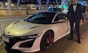 Max and Honda roll up in style in Monaco!