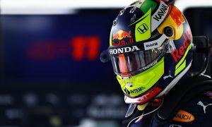 Perez reveals new-look helmet for Red Bull debut