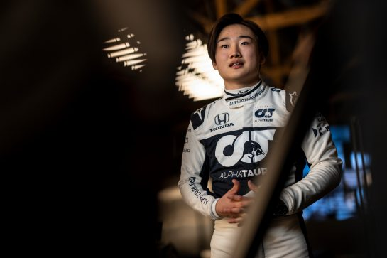 Yuki Tsunoda of Japan seen during the Suderia AlphaTauri AT02 Livery Reveal 2021 - Fashion meets Formula 1 in Salzburg, Austria on February 15, 2021. // Joerg Mitter / Red Bull Content Pool // SI202102180136 // Usage for editorial use only //