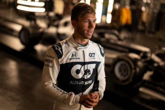 Pierre Gasly of France seen during the Suderia AlphaTauri AT02 Livery Reveal 2021 - Fashion meets Formula 1 in Salzburg, Austria on February 15, 2021. // Joerg Mitter / Red Bull Content Pool // SI202102180137 // Usage for editorial use only //