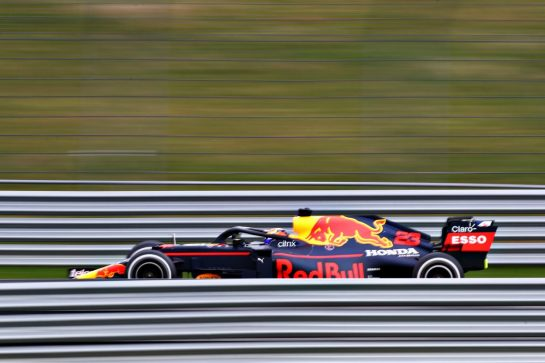 NORTHAMPTON, ENGLAND - FEBRUARY 24: Alexander Albon of Thailand driving the Red Bull Racing RB15 Honda during the Red Bull Racing Filming Day at Silverstone on February 24, 2021 in Northampton, England. (Photo by Bryn Lennon/Getty Images for Red Bull Racing) // Getty Images / Red Bull Content Pool  // SI202102240114 // Usage for editorial use only //