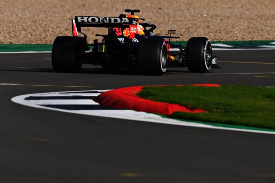 NORTHAMPTON, ENGLAND - FEBRUARY 24: Max Verstappen of Netherlands driving the Red Bull Racing RB15 Honda during the Red Bull Racing Filming Day at Silverstone on February 24, 2021 in Northampton, England. (Photo by Clive Mason/Getty Images for Red Bull Racing) // Getty Images / Red Bull Content Pool  // SI202102240128 // Usage for editorial use only //