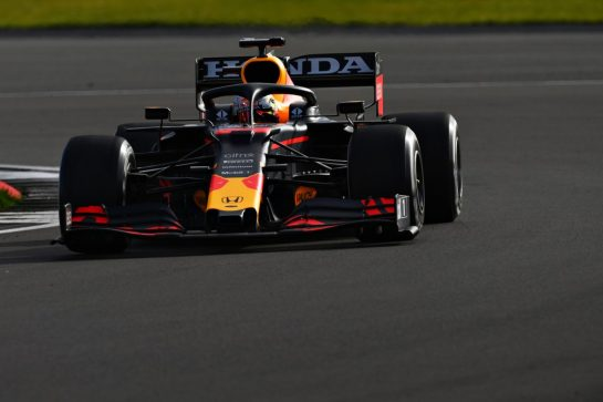NORTHAMPTON, ENGLAND - FEBRUARY 24: Max Verstappen of Netherlands driving the Red Bull Racing RB15 Honda during the Red Bull Racing Filming Day at Silverstone on February 24, 2021 in Northampton, England. (Photo by Clive Mason/Getty Images for Red Bull Racing) // Getty Images / Red Bull Content Pool  // SI202102240174 // Usage for editorial use only //