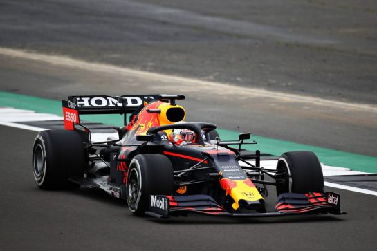 NORTHAMPTON, ENGLAND - FEBRUARY 24: Max Verstappen of Netherlands driving the Red Bull Racing RB15 Honda during the Red Bull Racing Filming Day at Silverstone on February 24, 2021 in Northampton, England. (Photo by Bryn Lennon/Getty Images for Red Bull Racing) // Getty Images / Red Bull Content Pool  // SI202102240198 // Usage for editorial use only //