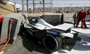 Venturi and Mercedes teams barred from qualifying after Mortara crash