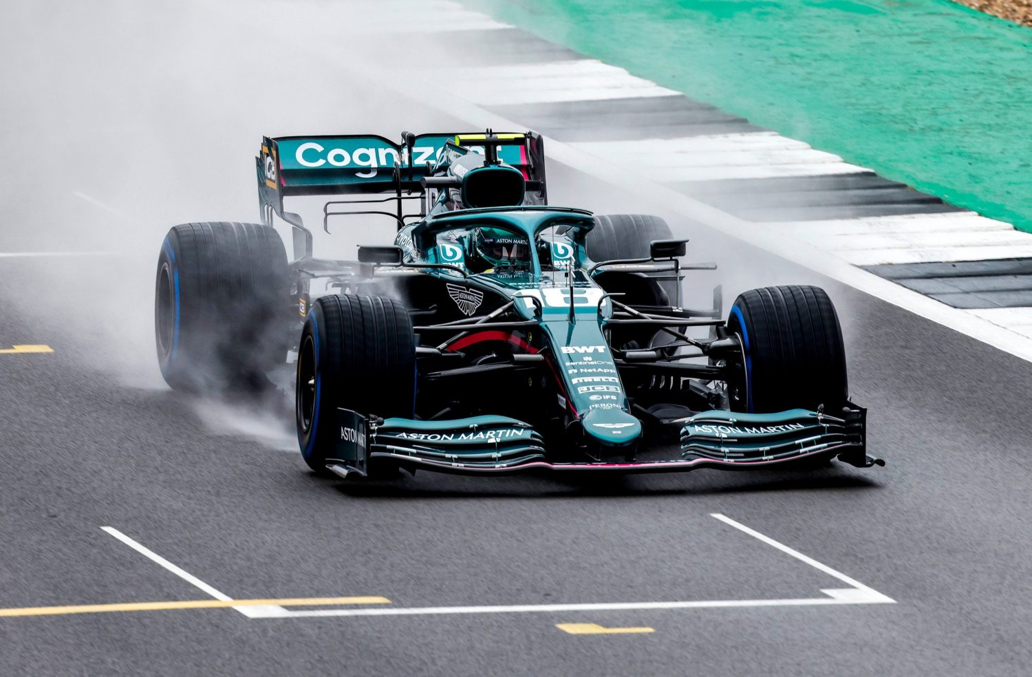 Vettel and Aston Martin make track debut at Silverstone
