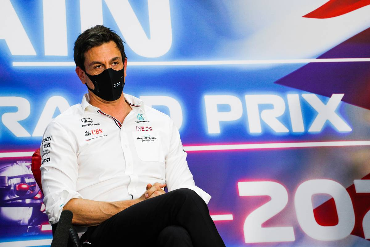 Toto Wolff (GER) Mercedes AMG F1 Shareholder and Executive Director in the FIA Press Conference. 26.03.2021. Formula 1 World Championship, Rd 1, Bahrain Grand Prix