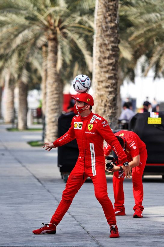 Charles Leclerc (MON) Ferrari in the paddock. 11.03.2021. Formula 1 Testing, Sakhir, Bahrain, Media Day. - www.xpbimages.com, EMail: requests@xpbimages.com © Copyright: Moy / XPB Images