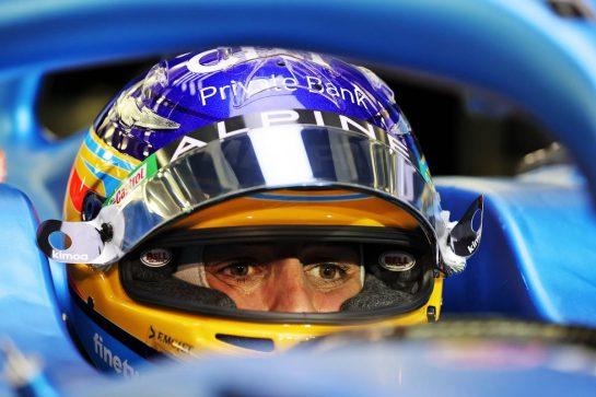 Fernando Alonso (ESP) Alpine F1 Team A521. 11.03.2021. Formula 1 Testing, Sakhir, Bahrain, Media Day. - www.xpbimages.com, EMail: requests@xpbimages.com © Copyright: Moy / XPB Images