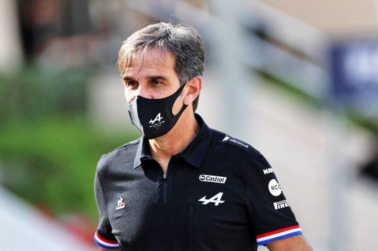 Davide Brivio (ITA) Alpine F1 Team Racing Director. 12.03.2021. Formula 1 Testing, Sakhir, Bahrain, Day One. - www.xpbimages.com, EMail: requests@xpbimages.com © Copyright: Moy / XPB Images