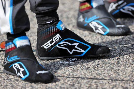Esteban Ocon (FRA) Alpine F1 Team - racing boots. 12.03.2021. Formula 1 Testing, Sakhir, Bahrain, Day One. - www.xpbimages.com, EMail: requests@xpbimages.com © Copyright: Moy / XPB Images