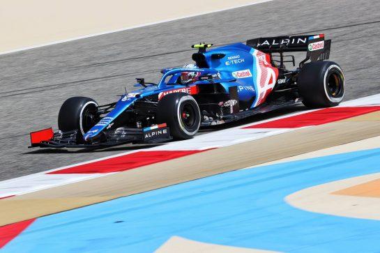 Esteban Ocon (FRA) Alpine F1 Team A521. 12.03.2021. Formula 1 Testing, Sakhir, Bahrain, Day One. - www.xpbimages.com, EMail: requests@xpbimages.com © Copyright: Charniaux / XPB Images