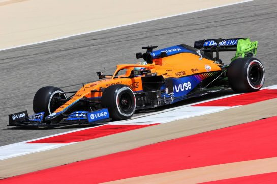 Daniel Ricciardo (AUS) McLaren MCL35M. 12.03.2021. Formula 1 Testing, Sakhir, Bahrain, Day One. - www.xpbimages.com, EMail: requests@xpbimages.com © Copyright: Charniaux / XPB Images