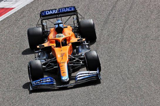Daniel Ricciardo (AUS) McLaren MCL35M. 12.03.2021. Formula 1 Testing, Sakhir, Bahrain, Day One. - www.xpbimages.com, EMail: requests@xpbimages.com © Copyright: Batchelor / XPB Images