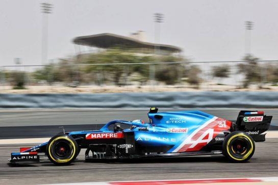 Esteban Ocon (FRA) Alpine F1 Team A521. 12.03.2021. Formula 1 Testing, Sakhir, Bahrain, Day One. - www.xpbimages.com, EMail: requests@xpbimages.com © Copyright: Batchelor / XPB Images