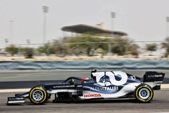 Pierre Gasly (FRA) AlphaTauri AT02. 12.03.2021. Formula 1 Testing, Sakhir, Bahrain, Day One. - www.xpbimages.com, EMail: requests@xpbimages.com © Copyright: Batchelor / XPB Images