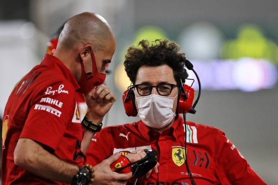 Mattia Binotto (ITA) Ferrari Team Principal. 12.03.2021. Formula 1 Testing, Sakhir, Bahrain, Day One. - www.xpbimages.com, EMail: requests@xpbimages.com © Copyright: Moy / XPB Images