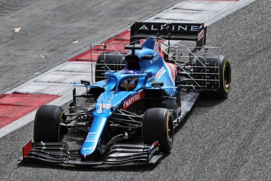 Fernando Alonso (ESP) Alpine F1 Team A521. 13.03.2021. Formula 1 Testing, Sakhir, Bahrain, Day Two. - www.xpbimages.com, EMail: requests@xpbimages.com © Copyright: Batchelor / XPB Images