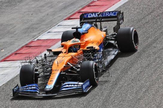 Daniel Ricciardo (AUS) McLaren MCL35M. 13.03.2021. Formula 1 Testing, Sakhir, Bahrain, Day Two. - www.xpbimages.com, EMail: requests@xpbimages.com © Copyright: Batchelor / XPB Images