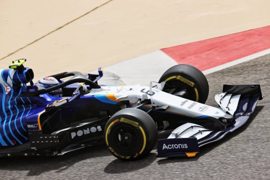 Nicholas Latifi (CDN) Williams Racing FW43B. 13.03.2021. Formula 1 Testing, Sakhir, Bahrain, Day Two. - www.xpbimages.com, EMail: requests@xpbimages.com © Copyright: Batchelor / XPB Images