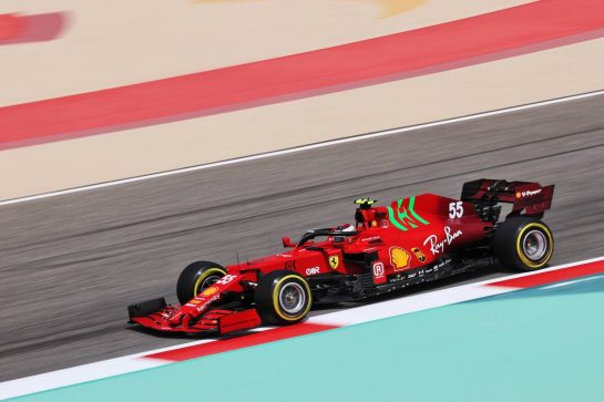 Carlos Sainz Jr (ESP) Ferrari SF-21. 13.03.2021. Formula 1 Testing, Sakhir, Bahrain, Day Two. - www.xpbimages.com, EMail: requests@xpbimages.com © Copyright: Charniaux / XPB Images