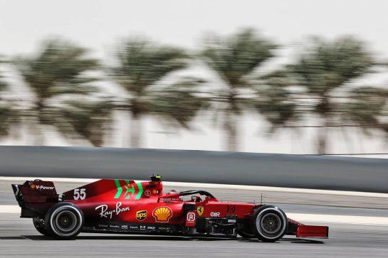 Carlos Sainz Jr (ESP) Ferrari SF-21. 13.03.2021. Formula 1 Testing, Sakhir, Bahrain, Day Two. - www.xpbimages.com, EMail: requests@xpbimages.com © Copyright: Batchelor / XPB Images