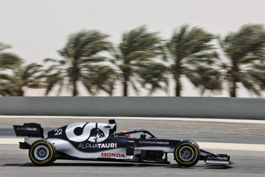 Yuki Tsunoda (JPN) AlphaTauri AT02. 13.03.2021. Formula 1 Testing, Sakhir, Bahrain, Day Two. - www.xpbimages.com, EMail: requests@xpbimages.com © Copyright: Batchelor / XPB Images