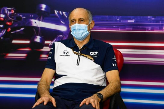 Franz Tost (AUT) AlphaTauri Team Principal in the FIA Press Conference. 13.03.2021. Formula 1 Testing, Sakhir, Bahrain, Day Two. - www.xpbimages.com, EMail: requests@xpbimages.com © Copyright: FIA Pool Image for Editorial Use Only