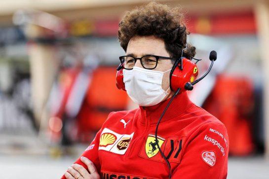 Mattia Binotto (ITA) Ferrari Team Principal. 13.03.2021. Formula 1 Testing, Sakhir, Bahrain, Day Two. - www.xpbimages.com, EMail: requests@xpbimages.com © Copyright: Moy / XPB Images