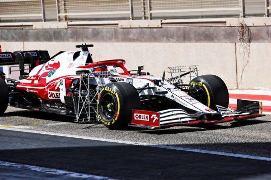 Kimi Raikkonen (FIN) Alfa Romeo Racing C41 running sensor equipment. 14.03.2021. Formula 1 Testing, Sakhir, Bahrain, Day Three. - www.xpbimages.com, EMail: requests@xpbimages.com © Copyright: Batchelor / XPB Images