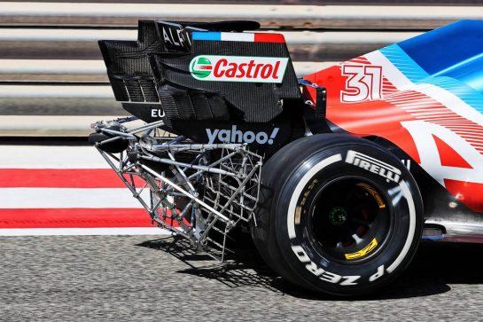 Esteban Ocon (FRA) Alpine F1 Team A521 running sensor equipment. 14.03.2021. Formula 1 Testing, Sakhir, Bahrain, Day Three. - www.xpbimages.com, EMail: requests@xpbimages.com © Copyright: Batchelor / XPB Images