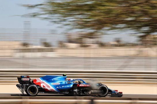 Esteban Ocon (FRA) Alpine F1 Team A521. 14.03.2021. Formula 1 Testing, Sakhir, Bahrain, Day Three. - www.xpbimages.com, EMail: requests@xpbimages.com © Copyright: Charniaux / XPB Images