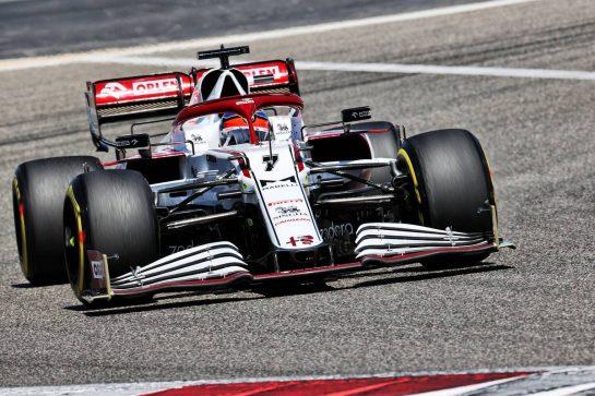 Kimi Raikkonen (FIN) Alfa Romeo Racing C41. 14.03.2021. Formula 1 Testing, Sakhir, Bahrain, Day Three. - www.xpbimages.com, EMail: requests@xpbimages.com © Copyright: Batchelor / XPB Images