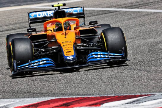 Lando Norris (GBR) McLaren MCL35M. 14.03.2021. Formula 1 Testing, Sakhir, Bahrain, Day Three. - www.xpbimages.com, EMail: requests@xpbimages.com © Copyright: Batchelor / XPB Images