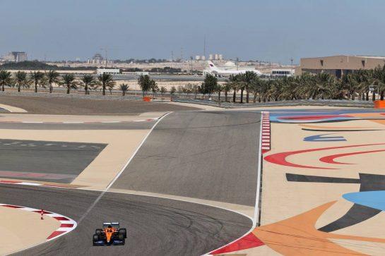Lando Norris (GBR) McLaren MCL35M. 14.03.2021. Formula 1 Testing, Sakhir, Bahrain, Day Three. - www.xpbimages.com, EMail: requests@xpbimages.com © Copyright: Charniaux / XPB Images
