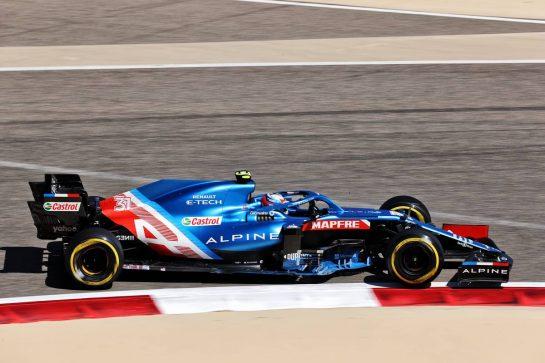 Esteban Ocon (FRA) Alpine F1 Team A521. 14.03.2021. Formula 1 Testing, Sakhir, Bahrain, Day Three. - www.xpbimages.com, EMail: requests@xpbimages.com © Copyright: Batchelor / XPB Images