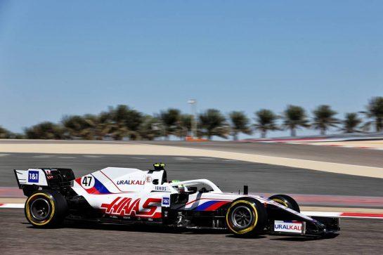 Mick Schumacher (GER) Haas VF-21. 14.03.2021. Formula 1 Testing, Sakhir, Bahrain, Day Three. - www.xpbimages.com, EMail: requests@xpbimages.com © Copyright: Batchelor / XPB Images