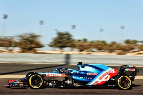 Fernando Alonso (ESP) Alpine F1 Team A521. 14.03.2021. Formula 1 Testing, Sakhir, Bahrain, Day Three. - www.xpbimages.com, EMail: requests@xpbimages.com © Copyright: Batchelor / XPB Images