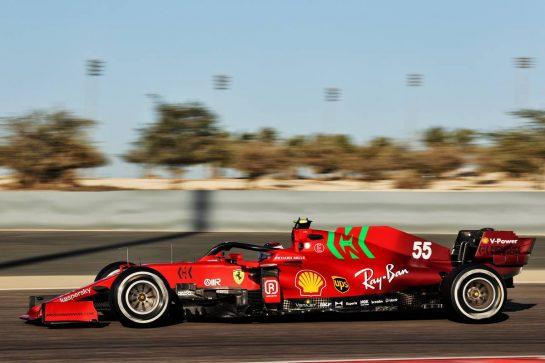 Carlos Sainz Jr (ESP) Ferrari SF-21. 14.03.2021. Formula 1 Testing, Sakhir, Bahrain, Day Three. - www.xpbimages.com, EMail: requests@xpbimages.com © Copyright: Batchelor / XPB Images