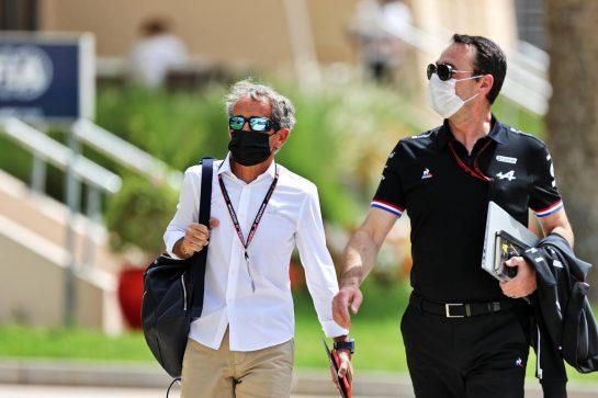 Alain Prost (FRA) Alpine F1 Team Non-Executive Director. 25.03.2021. Formula 1 World Championship, Rd 1, Bahrain Grand Prix, Sakhir, Bahrain, Preparation Day. - www.xpbimages.com, EMail: requests@xpbimages.com © Copyright: Moy / XPB Images