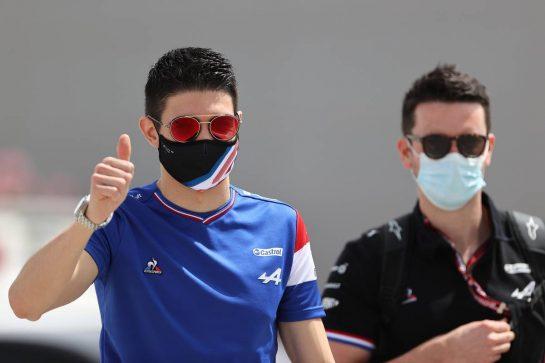 Esteban Ocon (FRA), Alpine F1 Team 25.03.2021. Formula 1 World Championship, Rd 1, Bahrain Grand Prix, Sakhir, Bahrain, Preparation Day.- www.xpbimages.com, EMail: requests@xpbimages.com © Copyright: Charniaux / XPB Images