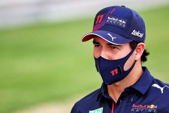 Sergio Perez (MEX) Red Bull Racing. 25.03.2021. Formula 1 World Championship, Rd 1, Bahrain Grand Prix, Sakhir, Bahrain, Preparation Day. - www.xpbimages.com, EMail: requests@xpbimages.com © Copyright: Batchelor / XPB Images