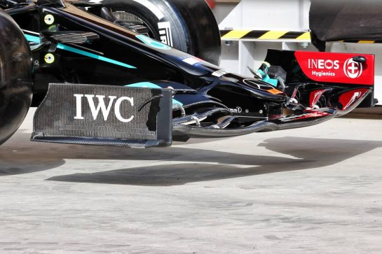 Mercedes AMG F1 W12 front wing. 25.03.2021. Formula 1 World Championship, Rd 1, Bahrain Grand Prix, Sakhir, Bahrain, Preparation Day. - www.xpbimages.com, EMail: requests@xpbimages.com © Copyright: Batchelor / XPB Images