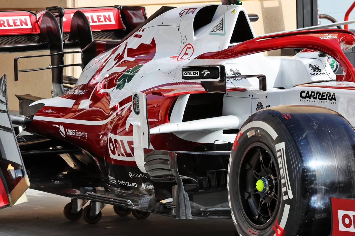 Alfa Romeo Racing C41 sidepod detail. 25.03.2021. Formula 1 World Championship, Rd 1, Bahrain Grand Prix