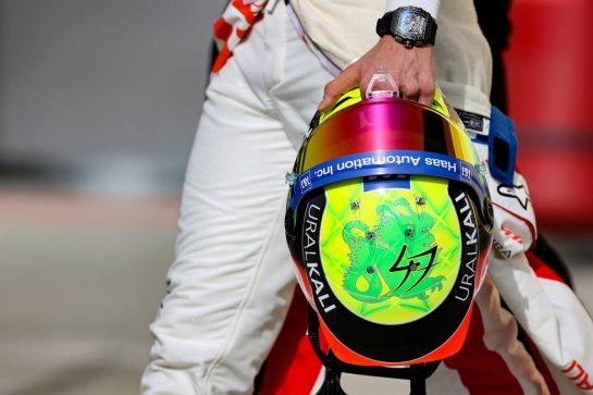 Mick Schumacher (GER), Haas F1 Team 25.03.2021. Formula 1 World Championship, Rd 1, Bahrain Grand Prix, Sakhir, Bahrain, Preparation Day.- www.xpbimages.com, EMail: requests@xpbimages.com © Copyright: Charniaux / XPB Images