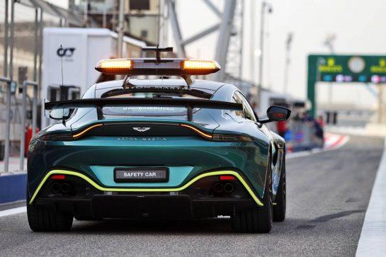Aston Martin FIA Safety Car. 25.03.2021. Formula 1 World Championship, Rd 1, Bahrain Grand Prix, Sakhir, Bahrain, Preparation Day. - www.xpbimages.com, EMail: requests@xpbimages.com © Copyright: Moy / XPB Images